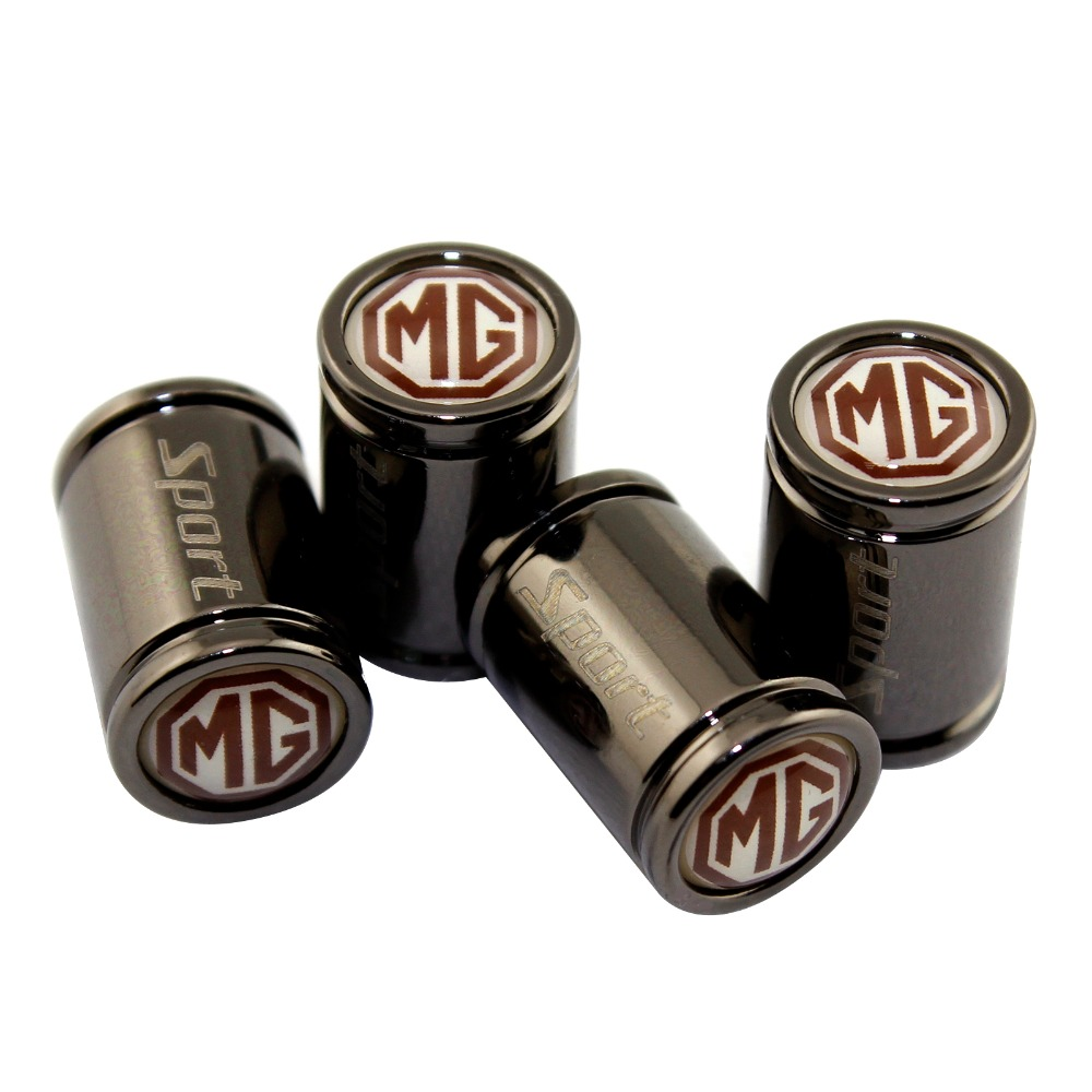 4pcs Car Wheel Tire Valves Tyre Air Caps Case For MG MORRIS GARAGES MG3 MG5 MG6 GS GT Mg350 MG3SW ZS MG7 TF ZT Accessories