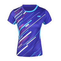 New Badminton Wear Women's Shirt Summer Quick Dry Short sleeved Slim Tennis Sportswear