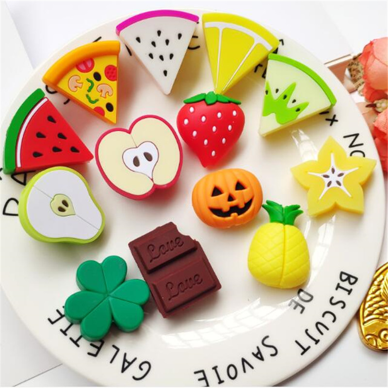 1Pcs Cute Fruits Foods Cable Protector Cord Wire Cartoon Protection Mini Silicone Cover Charging Cable Winder For Charger Cable
