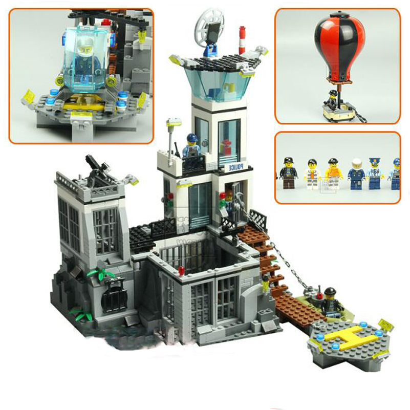 Lepin City Series Building Blocks Set Police Prison Island Education 815pcs Bricks Toys Gifts For Children Compatible 02006 lepin 02006 815pcs city series police sea prison island model building blocks bricks toys for children gift 60130