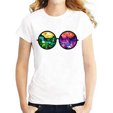 Novelty T Shirts Best Friend The World In Glasses O-Neck Short-Sleeve Womens