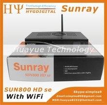 Sunray 800SE dm800hd se dm800se Sim2.10 Con WiFi Negro wifi receptor de Satélite Sunray dm800 sí con 300 Mbps WIFI