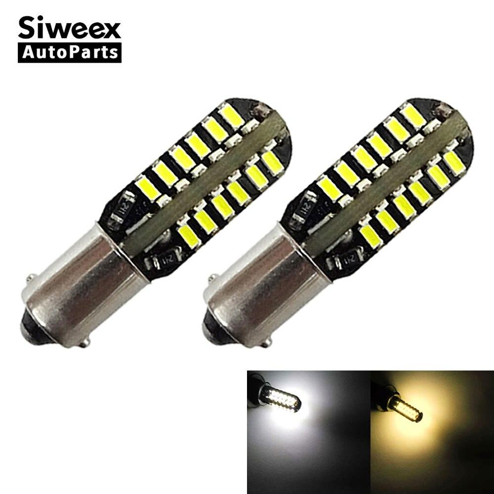 2 pces ba9s 48 smd 3014 led luz do carro automóvel canbus livre de erros placa licença lâmpada cúpula porta leitura lâmpadas dc 12v branco quente