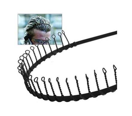 Woman Man Boy Girl Black Metal Sports hoop teeth Hair Headband Hair Band bow