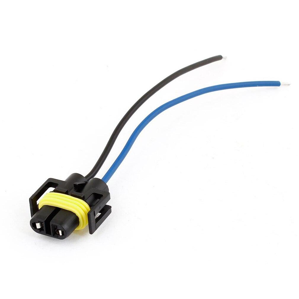 hight resolution of auto car 2 wire headlight h11 socket harness plastic connector plug