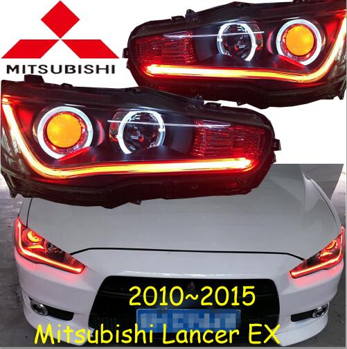 Mitsubish Lancer headlight,2008~2015 (Fit for LHD&RHD),Free ship! Lancer fog light,2ps/se+2pcs Aozoom Ballast,ASX,Lancer EX pair of chic rhinestone faux feather earrings for women