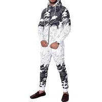 ZOGAA Men's Tracksuit Casual Camouflage Fashion Sportswear Men Outfits 2 Piece Set Zipper Hoodies and Pants Sweat Suit Set