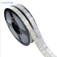 New Double Row LED Strip 5050 DC12V Silicone Tube Waterproof Flexible Strip Warm White Red Blue