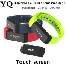 YQ i5 plus Bluetooth 4.0 Waterproof Touch Screen Fitness Tracker Health Smart Bracelet Wristband Sleep Monitor SmartWatch