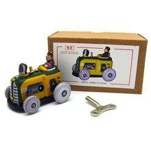 Ретро коллекция оловянные игрушки mkd3 детские металлические ветрозащитные авто модели роботы железная, ручной работы механический винтажный трактор