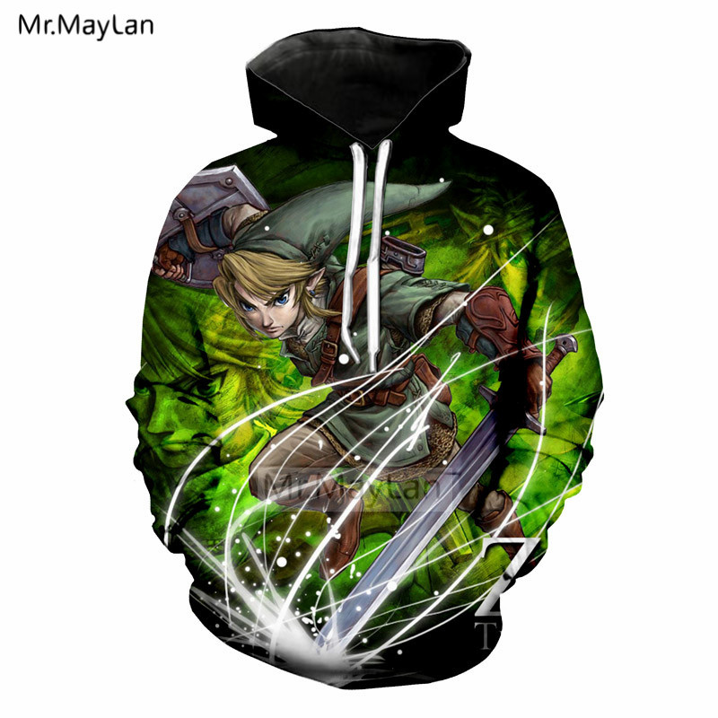 Japan Game The Legend of Zelda 3D Print Jacket Men/women Streetwear Hoodies