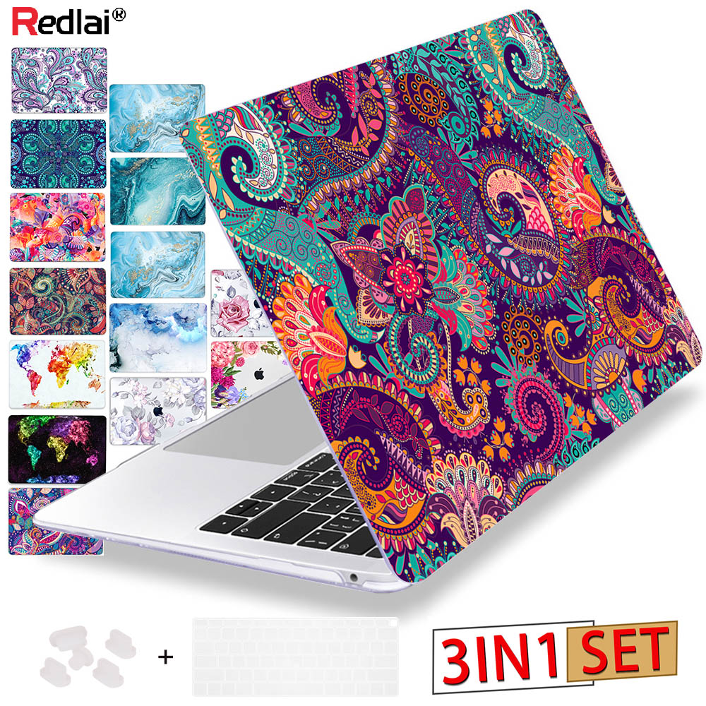 Redlai Colors Crystal Clear Laptop Case For Macbook Pro 13.3 15.4 Retina 2019 Air 13 Inch A1932 For Macbook Pro 13 16 Touch Bar