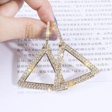 Fyuan модные серьги в Корейском стиле с большими треугольниками