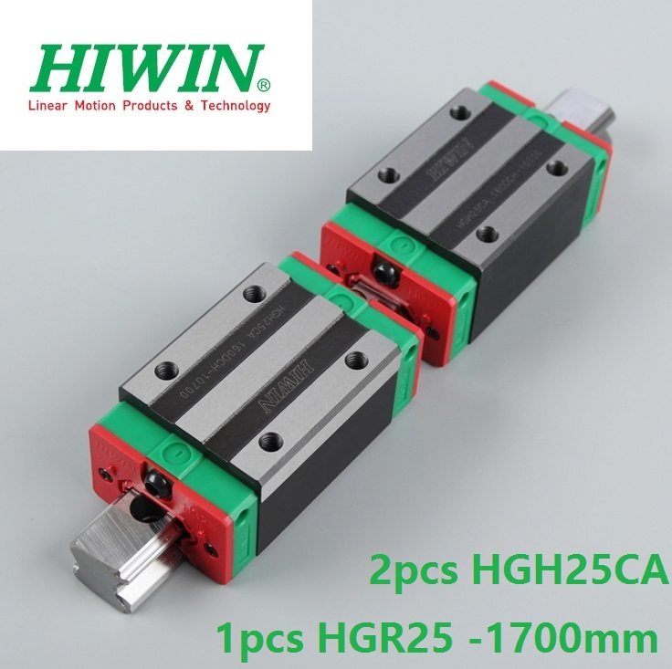 1pcs 100% original Hiwin linear guide linear rail HGR25 -L 1700mm + 2pcs HGH25CA square block for cnc router цена