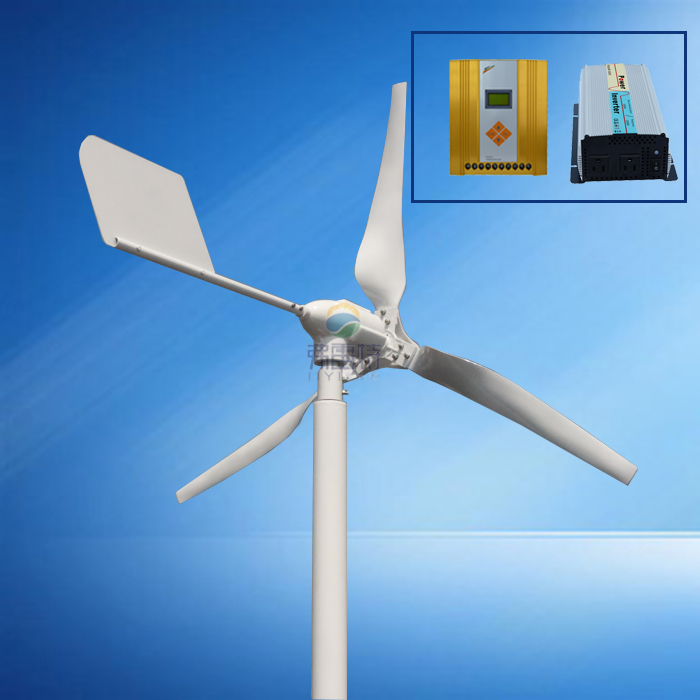 HOT!600w MAX 800w wind turbine with 600w wind solar hybrid controller and 1000w pure sine wave inverter wind power generator 400w for land and marine 12v 24v wind turbine wind controller 600w off grid pure sine wave inverter