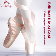Ballet Pointe Dance Bandage Shoes Girl Woman Professional Dancing Use,Canvas/Satin Material