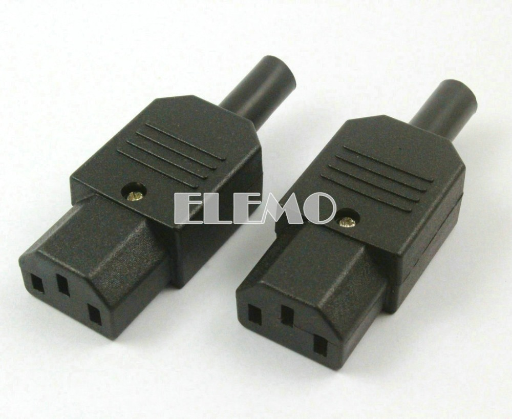 Pieces iec c female plug power adapter rewirable