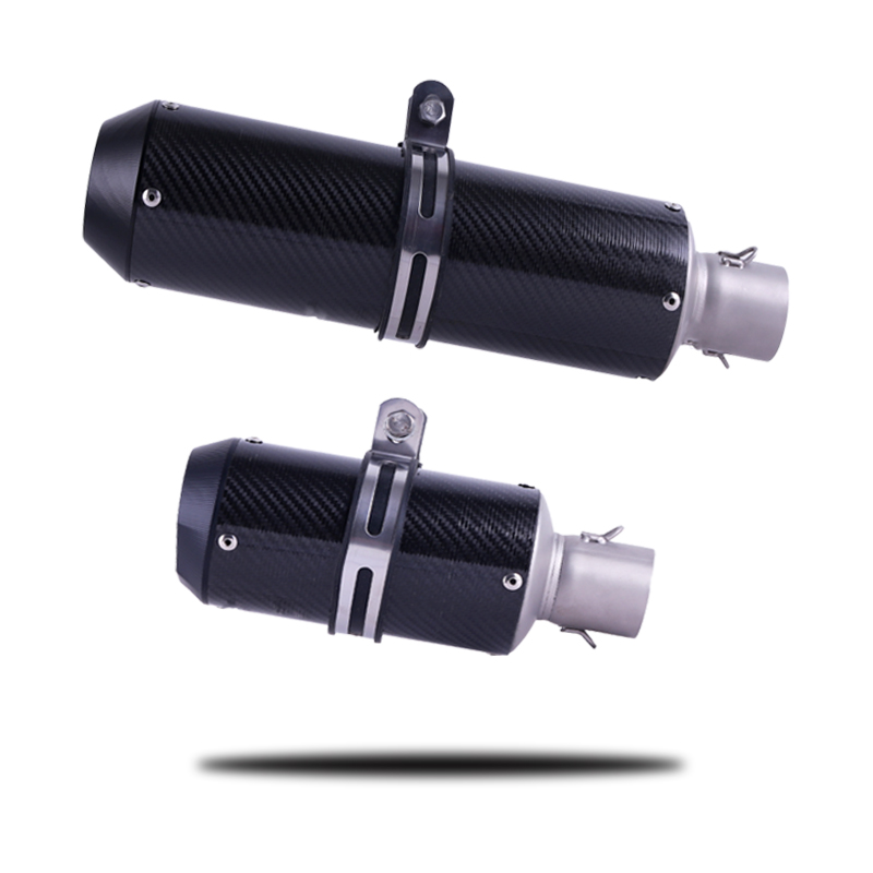 Universal Motorcycle Carbon Fiber Exhaust muffler Escape Slip-On Pipe Fit for Most Motorbike Z800 Z750 ZX10R ZX6R CBR GSXR 600