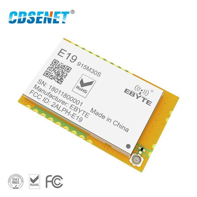 SX1276 LoRa 915MHz SMD Transmission de données Module rf 30dBm CDSENET E19 915M30S LNA longue portée 915 mhz rf émetteur et récepteur