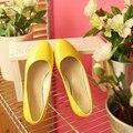 МЛО М-6 для варианта бесплатная доставка тенденция Лакированной Кожи Повседневная низком каблуке для женщин Весна