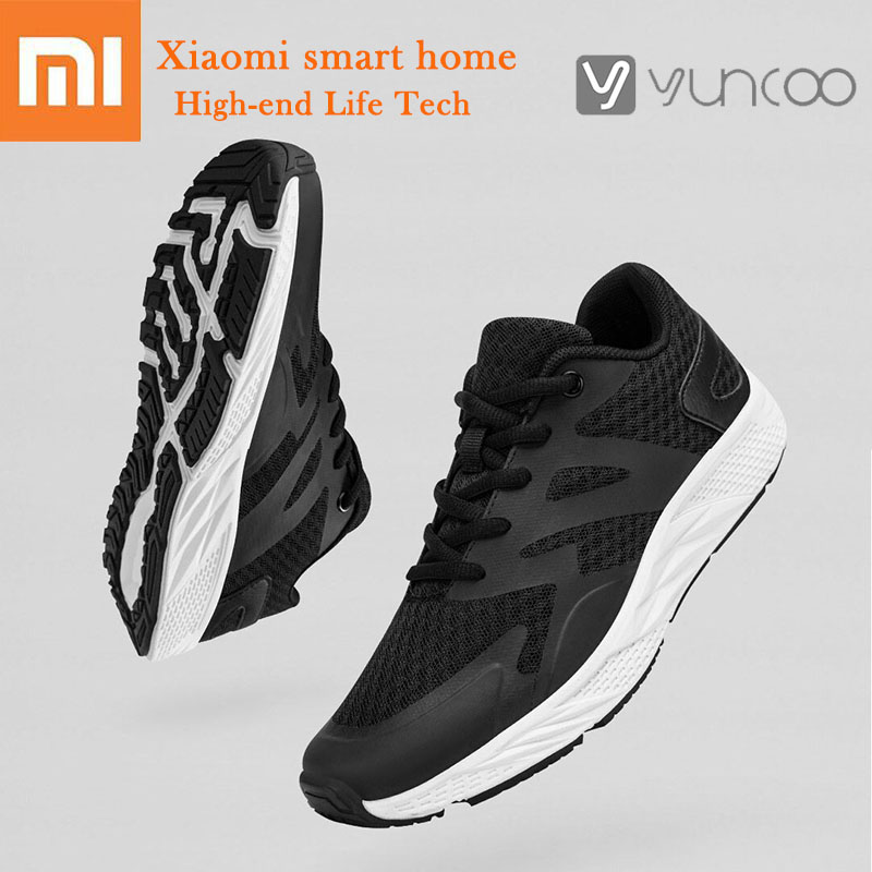 Xiaomi Casual Shoes TPU Light Hight Rebound Sneaker Stable Support Breathable Mesh Black Sports Shoes PK
