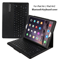 Para ipad 5/ipad 6 magneticamente destacável abs bluetooth keyboard pu caso capa de couro para ipad air/ipad air 2 ar2 + gift