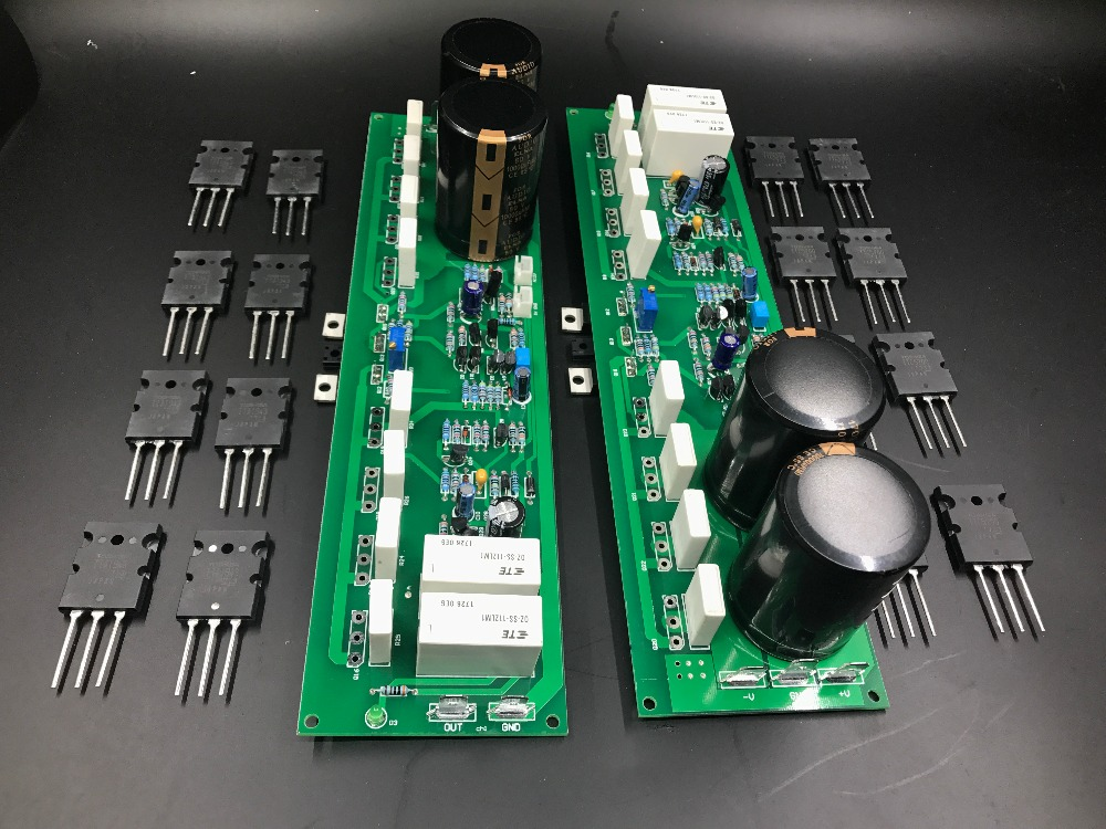 Assembled Luxury PR-800 1000W Class A and B professional stage fever 1000W power amplifier board finished board image