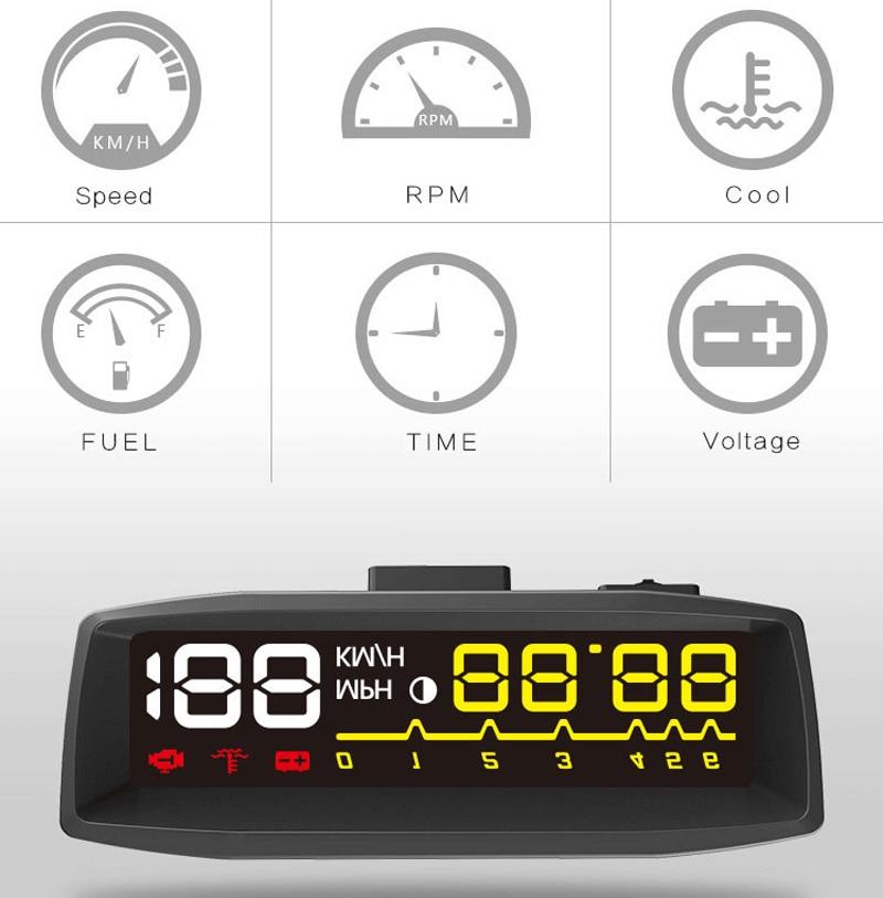 2017 Car HUD Head up Display System samochodowy OBDII Auto KM / H RPM - Elektronika Samochodowa - Zdjęcie 4