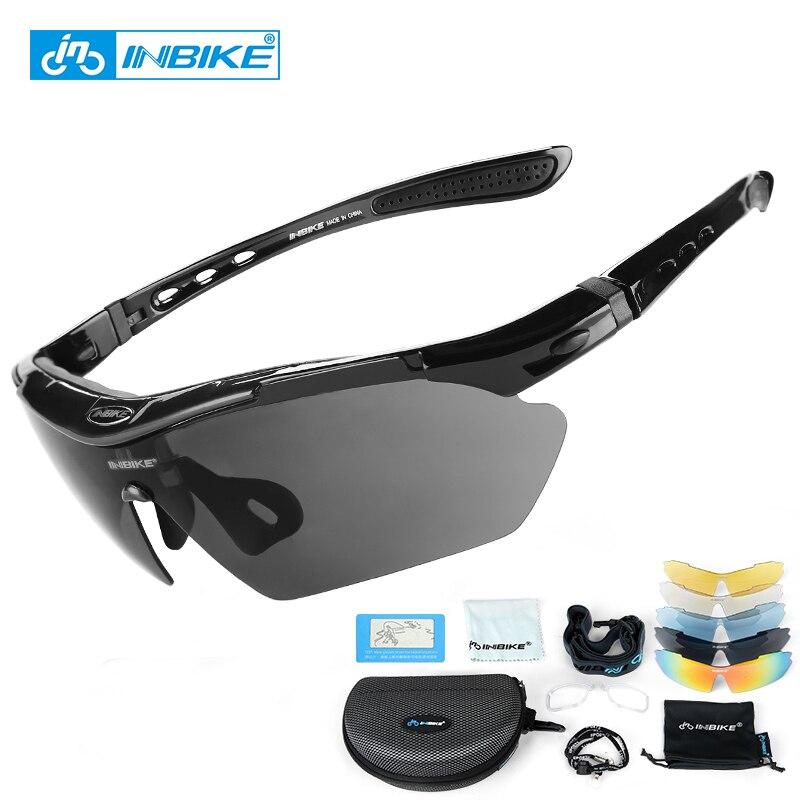 INBIKE الدراجات نظارات الأشعة فوق البنفسجية واقية من الاستقطاب 5 عدسة إطار نظارات دراجة دراجة النظارات الشمسية في الهواء الطلق الرياضة حملق محرك النظارات الشمسية