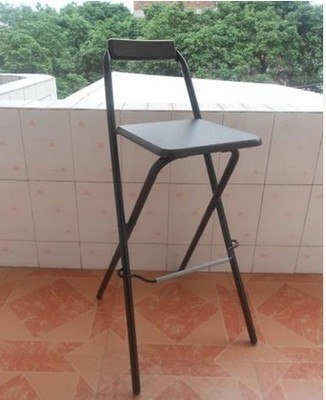 sillas de color negro plegable muebles villa balcn jardn taburetes muebles para el hogar al por