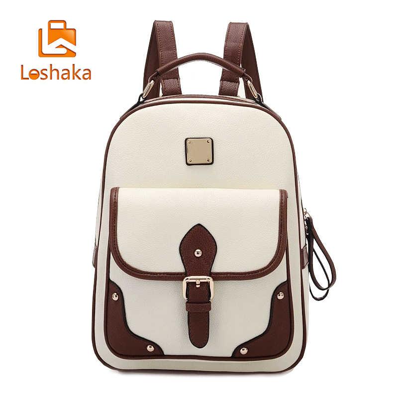 cf9f036dbfdc Loshaka Повседневное Для женщин школьный рюкзак Для женщин рюкзаки из  искусственной кожи для девочек-подростков