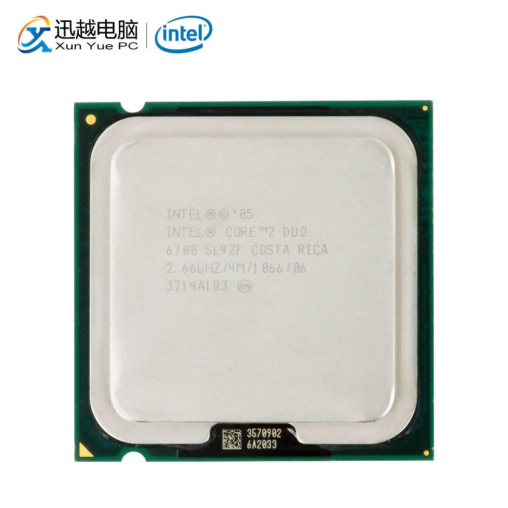 Intel Core Duo 2 E6700 Processador de Desktop Dual-Core 2.66 GHz 4 MB de Cache FSB LGA 1066 775 6700 CPU usado