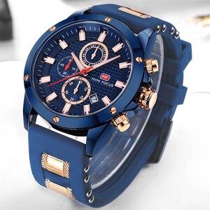 Image 4 - מיני פוקוס Mens שעוני יד קוורץ שעון גברים עמיד למים צבאי ספורט שעונים גברים יוקרה מותג זכר שעון Relogio Masculino כחול