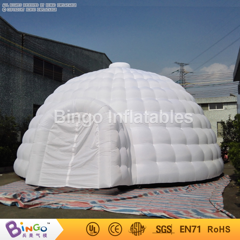 8 * 8.8 * H4.5M White inflatable dome tents large inflatable igloo tent party tents for events with free fan toy tents mrpomelo kids toy tent solid color indian white tents with window 100
