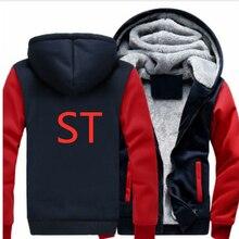 ST новый логотип Толстовка Для мужчин толстовки зима-осень Утепленные Пальто флисовая толстовка Для мужчин толстовки на молнии с капюшоном повседневные куртки