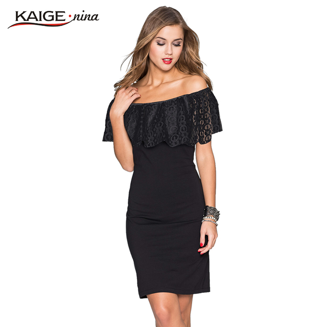 the latest 9fc50 09c2b US $13.16 53% di SCONTO|Kaige Nina Donne summer Dress Bodycon Abiti con  pizzo Plus Size Chic Elegante spalla off Sera Vestiti Da Partito 9023 in  Kaige ...