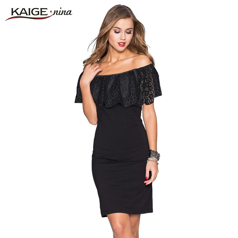 Kaige Nina Dámské šaty letní Bodycon šaty s krajkou Plus velikost elegantní Elegantní off rameno večerní strana šaty 9023
