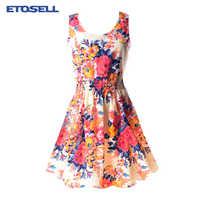 Vestido Casual De gasa De Verano ropa De mujer 2019 Sexy Floral corto vestidos De playa coreano elegante Vestido De fiesta Verano bata femenina