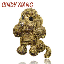 CINDY XIANG 2 colors choose Fashion Animal Brooch Cute Vintage Dog Brooches Women and Kids Gift Broch High Quality New Year Gift