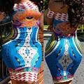 2017 Традиционной Африканской Моды Женской Одежды Хлопка Африканская Печати Сексуальная С Плеча Dashiki Платье традиционной африке одежда