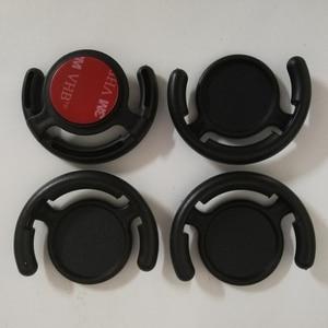 Image 3 - 100 Uds. De alta calidad Universal para la pared del coche soporte para teléfono de oficina gancho de montaje 3M pegamento para teléfono móvil con bolsa de Opp