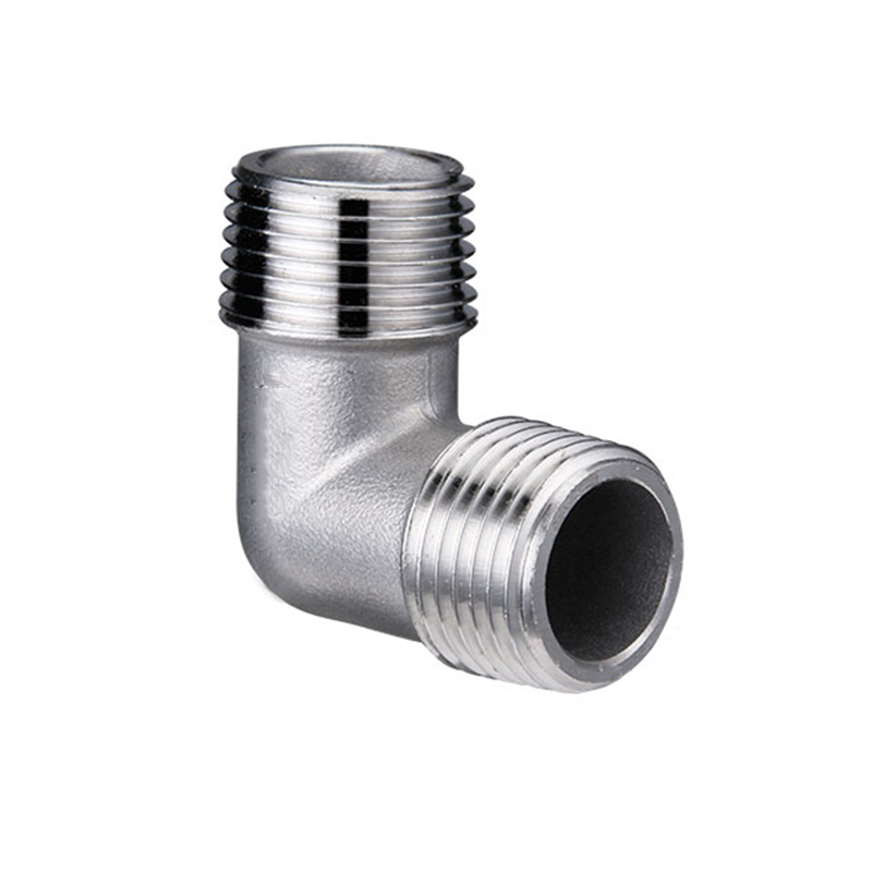 1//8BSP Male Thread 90 Degree Elbow Equal Tube Pipe Connecting Fittings 2pcs