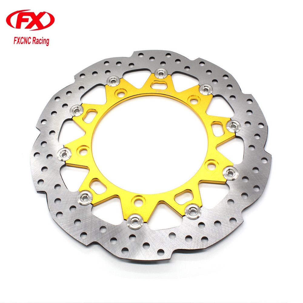 Stainless Steel Gold Floating Float Motorcycle Front Brake Disc Disks Rotor Motorbike Brake Disk For Honda CB190R All Years solid color skinny backless sexy scoop neck summer dress for women