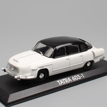 1:43 Scale DeAgostini 1956 Tatra 603 Czechoslovak Slovakia vintage luxury saloon diecast modeling car vehicles toys for children