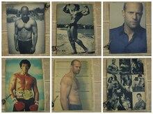 Jason Stanson / Schwarzenegger / Stallone / Van Diesel Muscle Male Movie Star Fitness Poster Painting/Kraft Poster/Wall sticker