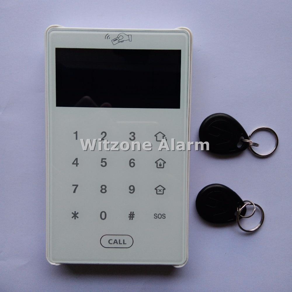 bilder für 868 MHz Dual-wege-kommunikation Tastatur Touchscreen RFID Tastatur für Fokus Hause Einbruchmeldeanlage ST-V, ST-VGT, ST-IIIB, ST-IIIGB