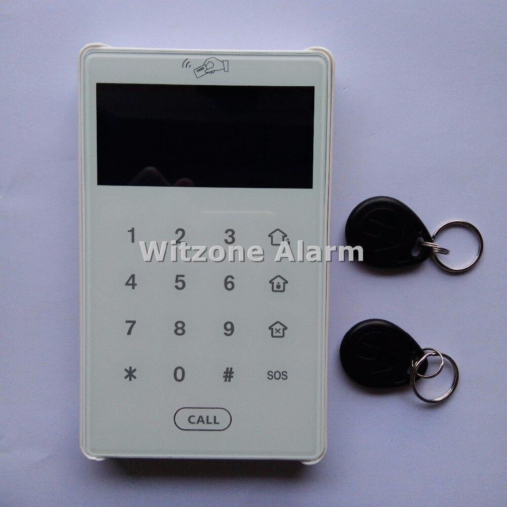 868MHz Dual Way Communication Keypad Touch Screen RFID Keypad for Focus Home Burglar Alarm System ST-V,ST-VGT,ST-IIIB,ST-IIIGB free shipping 433mhz 868mhz wireless vibration sensor shock detector works with st iiib and st vgt alarm system