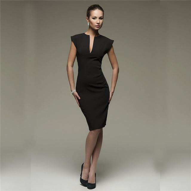 Women V Collar Elegant Dress