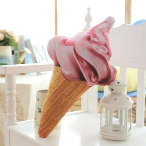 Image 2 - CAMMITEVER Creative 3D Ice Cream Shape Cushion Doll Plush Toy Pillow Bed Seat Use Home Decor Gift