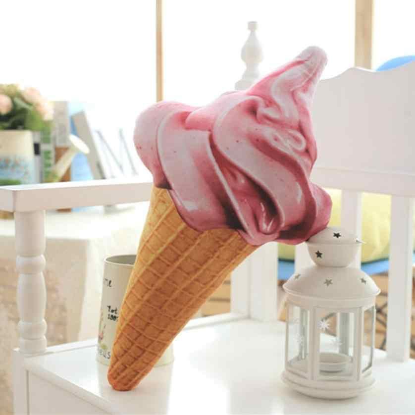 Cammiteverクリエイティブ3dアイスクリーム形状クッション人形ぬいぐるみ枕ベッドシート使用ホームインテリアギフト